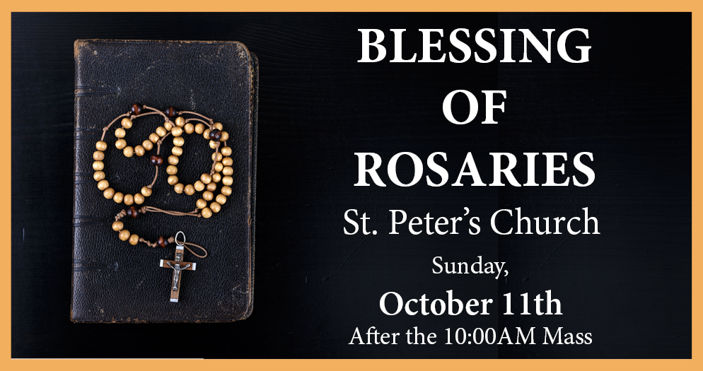 Blessing of Rosaries