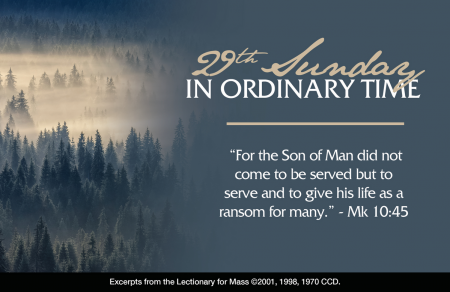 29th Sunday Ordinary Time Oct 2021 L