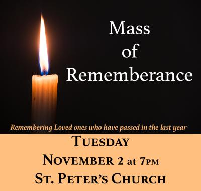 Mass of Rememberance Nov 2021