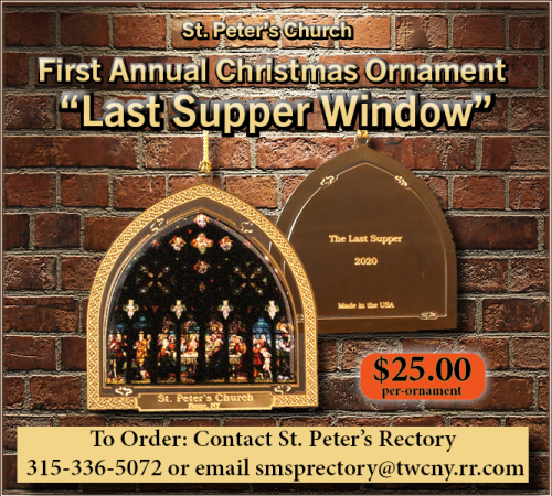 2020 St. Peter's Christmas Ornament