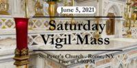 VIGIL MASS from ST PETER'S CHURCH