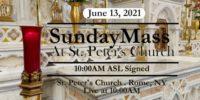 SUNDAY MASS from ST PETER'S CHURCH