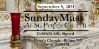 SUNDAY MASS from ST PETERS CHURCH